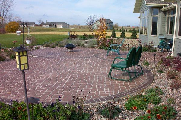 Brick, Curved Concrete Patios Stecker Construction LLC Oostburg, WI