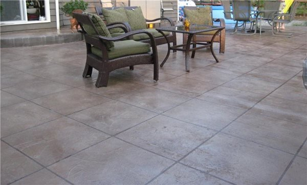 Brown Concrete Patio Concrete Patios NW Coatings & Concrete/NW Coatings & Contracting Lake Stevens, WA