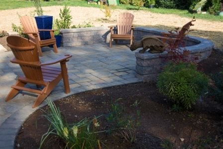 Chairs, Retaining Wall, Stampe Concrete, Patio Concrete Patios Nature Boys Landscape & Construction, Inc Boonsboro, MD