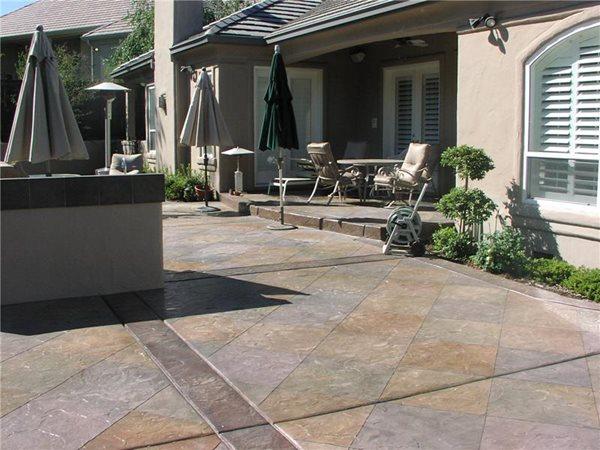 Colored Stamped Patio Concrete Patios Richardson's Concrete Effects Carmichael, CA