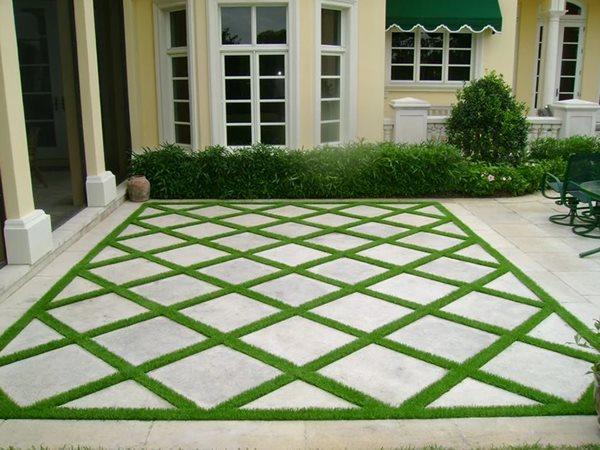 Concrete And Grass Patio Concrete Patios Envirocrete Inc Calgary, AB