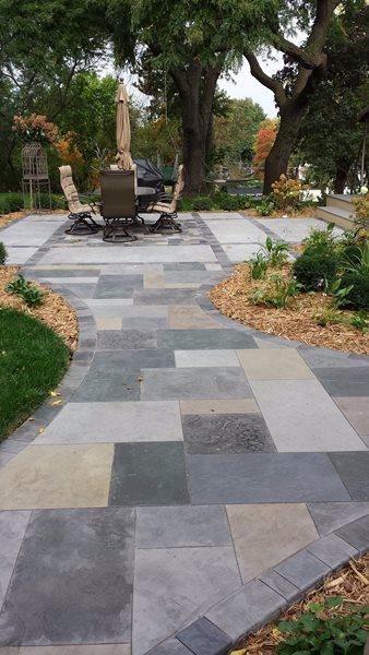 Faux Bluestone Concrete Patios Decra-Crete LLC. Hastings, MN