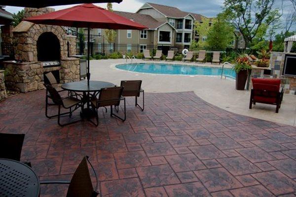 Fireplace Patio Concrete Patios Commercial Concrete Solutions Platte City, MO