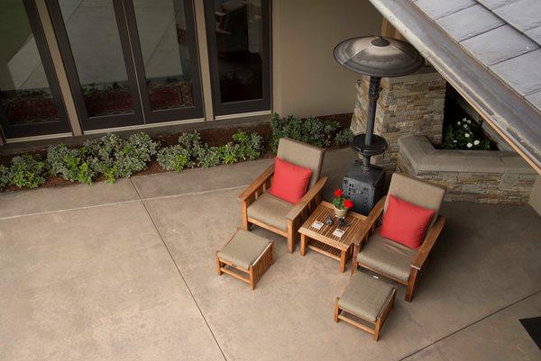 Integrally Colored Patio Concrete Patios Tom Ralston Concrete Santa Cruz, CA