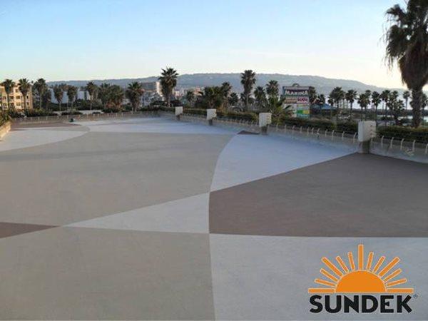 Patio, Crown Plaza Concrete Patios Pacific Concrete Coatings Santa Fe Springs, CA