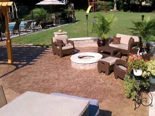 Patio, Natural Colored, Entertainment Concrete Patios G-Cat Construction Company Bartlett, IL