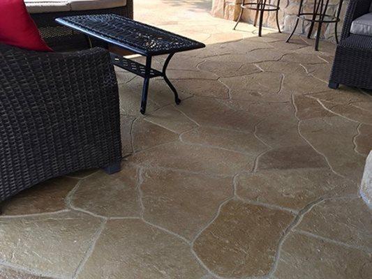 Patio, Stamped, Sundek, Furniture Concrete Patios Sundek of Washington Chantilly, VA