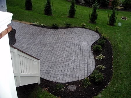 Pavers, Circle Concrete Patios Salzano Custom Concrete Aldie, VA