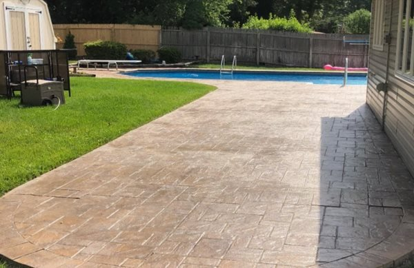 Pool, Patio, Stamped Concrete Patios Premier Polishing Corp Holbrook, NY