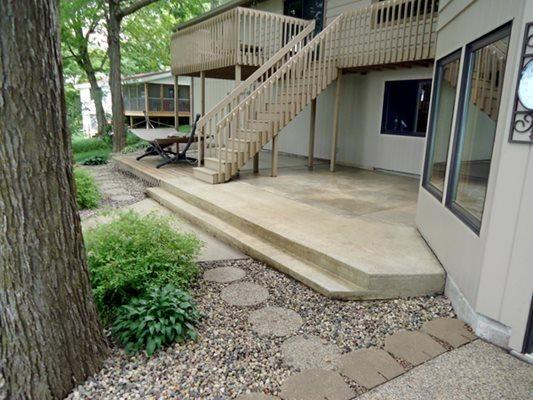 Resurfaced, Patio, Trees Concrete Patios Polished Concrete Plus Rice, MN