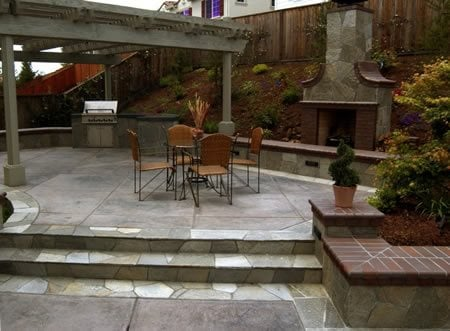 Rock Salt Finish Concrete Patios BCP Concrete Pleasanton, CA