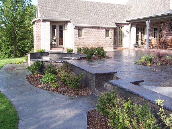 Concrete Patios Solid Rock Concrete Services Gravette, AR