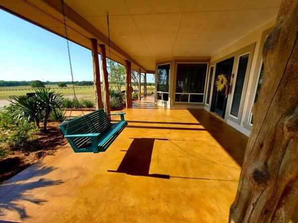 Stained Ocncrete, Front Porch Concrete Patios Decorative Concrete Masters Schertz, TX
