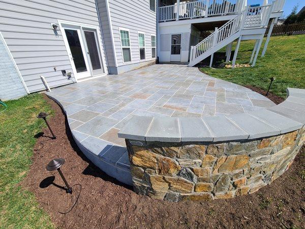 Stamped Concrete Patio, Hand Detailed Concrete Patios Salzano Custom Concrete Aldie, VA