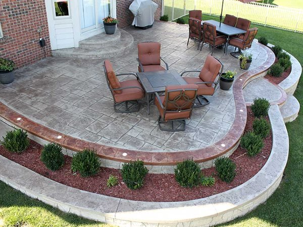 Stamped Patio, Faux Stone Concrete Patios Biondo Cement Co Inc Shelby Charter Township, MI
