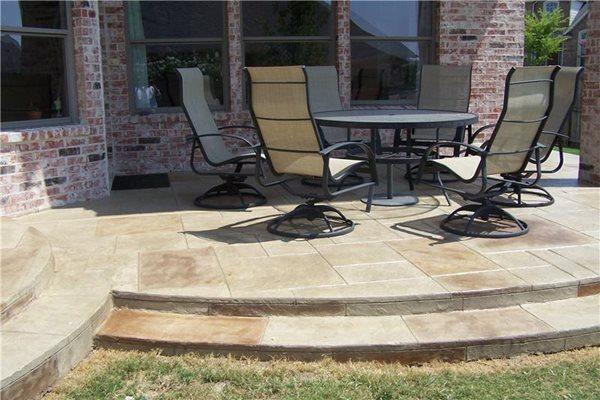 Stamped Patio Texas Concrete Patios Deck-O-Art Inc. McKinney, TX