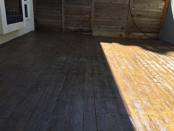 Stamped, Stained, Patio, Woodform Concrete Patios All Pro Cement, Inc Thornton, CO