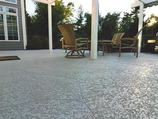 Sunset, Patio, Stamped Concrete Concrete Patios Sundek of Washington Chantilly, VA