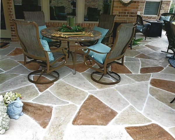 Sunstone Patio, Concrete Coating Concrete Patios Sundek of Houston Katy, TX