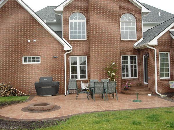 Terra Cotta Concrete Patios Conceptual Concrete & Engraving Ltd Woodville, OH