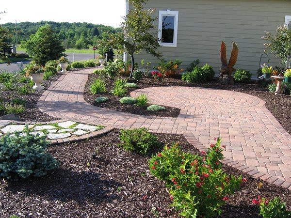 Garden Path Concrete Pavers B.A.S.S Concrete And Landscape Inc Hugo, MN