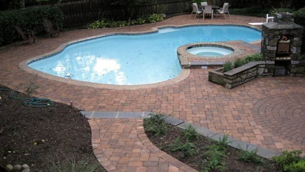 Pool Deck Pavers Concrete Pavers NRC Landscape Construction Vienna, VA