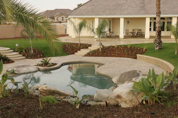 Boulders, Natural Concrete Pool Decks Heritage Bomanite Fresno, CA