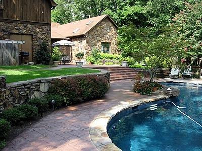 Brick, Rock Copping Concrete Pool Decks Artistic Hardscapes Mason, TN
