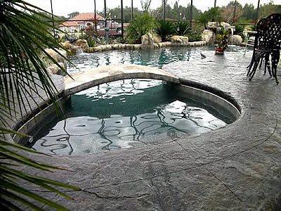 Bridge, Creek Concrete Pool Decks Ron Hill Decorative Concrete Surfaces LAKELAND, FL