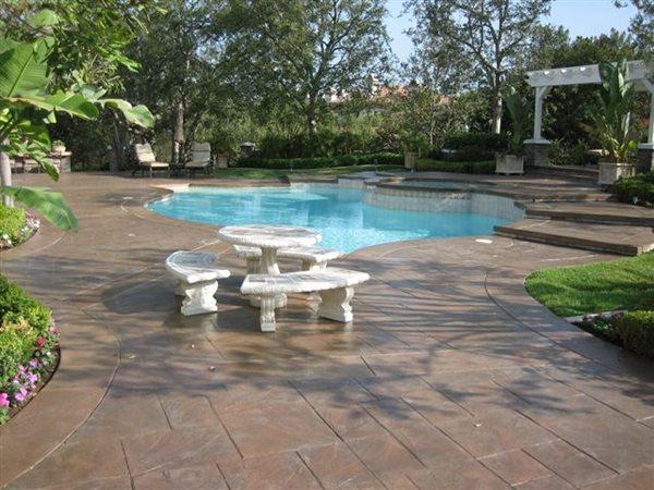 Brown, Tiles Concrete Pool Decks Super-Krete Products Spring Valley, CA