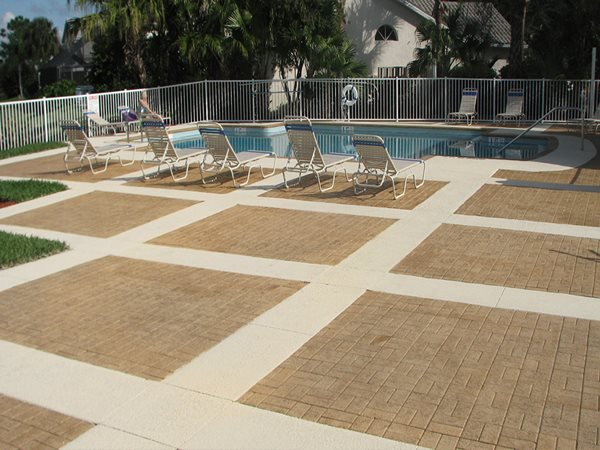 Commercial Swimming Pool, Stamped Concrete Concrete Pool Decks Total Design Concrete LLC Nashua, NH