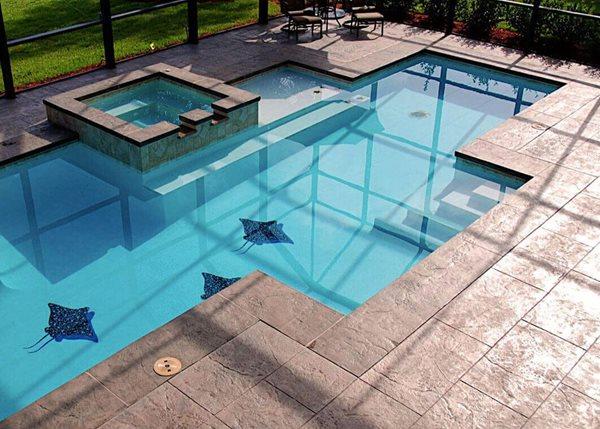 Concrete Pool Deck, Decorative Concrete, Custom Concrete, Custom Pool, Pool Design, Pool, Pool Deck Concrete Pool Decks GMS Decorative Concrete Nashua, NH