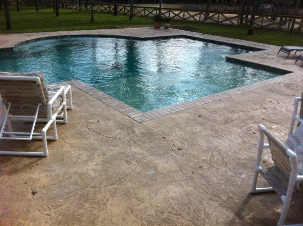 Concrete Pool Deck Concrete Pool Decks Exquisite Concrete Designs College Station, TX