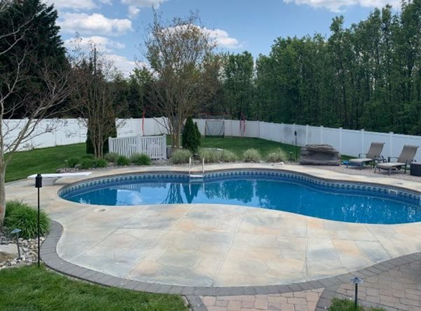 Concrete Pool Deck, Pool Deck, Decorative Concrete, Concrete Concrete Pool Decks New Castle Artisan Turnersville, NJ