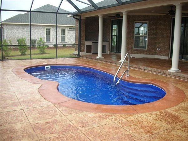 Concrete Tile, Concrete Pool Deck Tile, Terra Cotta Concrete Concrete Pool Decks Rock Solid Custom Concrete Wilmington, NC