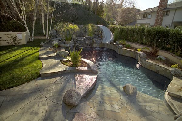 Concrete Pool Decks Davis Colors Los Angeles, CA