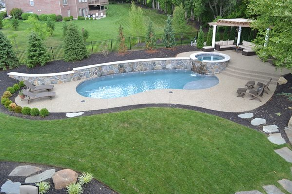 Exposed Aggregate, Swimming Pool Concrete Pool Decks TowneScapes LLC Batavia, OH
