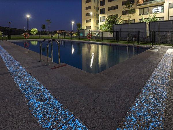 Glow In The Dark Pool Deck Concrete Pool Decks HM Concrete Design Rockville, MD