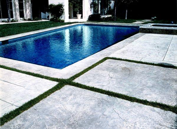 Grass, Texture Concrete Pool Decks Brickform Rialto, CA