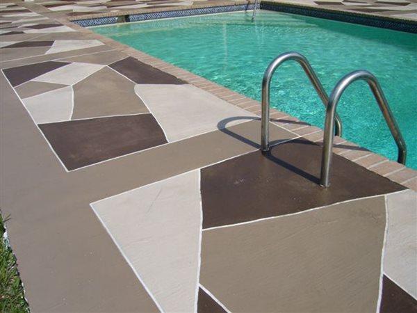Grey, Black Concrete Pool Decks AAA Concrete Elegance Inc Oakland Park, FL