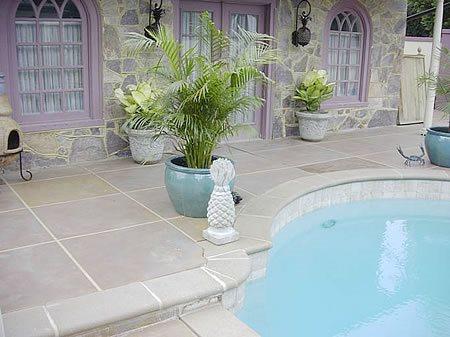 Grey, Squares Concrete Pool Decks Tri-State Concrete Coatings, Inc. Middletown, MD