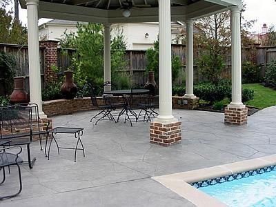 Large Stone, Grey Concrete Pool Decks Artistic Hardscapes Mason, TN