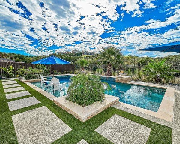 Modern Pool, Oversized Pavers Concrete Pool Decks Sundek of Austin Austin, TX