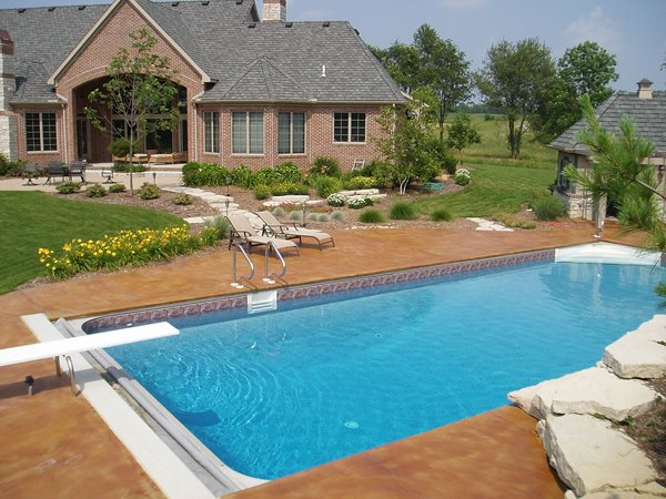Molted, Earth Tone Concrete Pool Decks Concreations, LLC Millersburg, IN