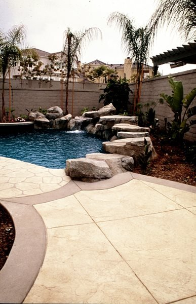 Natural, Rock Concrete Pool Decks Sullivan Concrete Textures Costa Mesa, CA