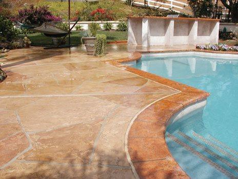 Overlay Concrete Pool Decks Concrete Craftsmen Santee, CA