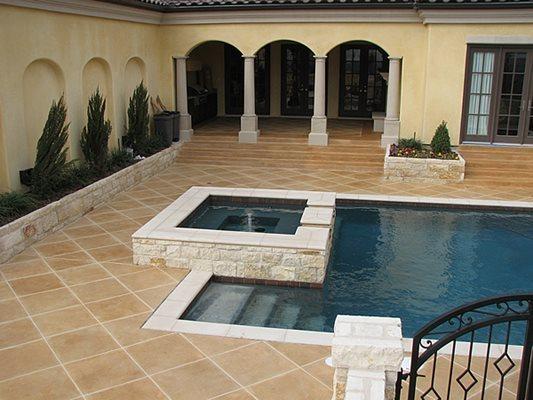 Pool Deck, Jacuzzi, Courtyard Concrete Pool Decks Concrete Cosmetics Crowley, TX