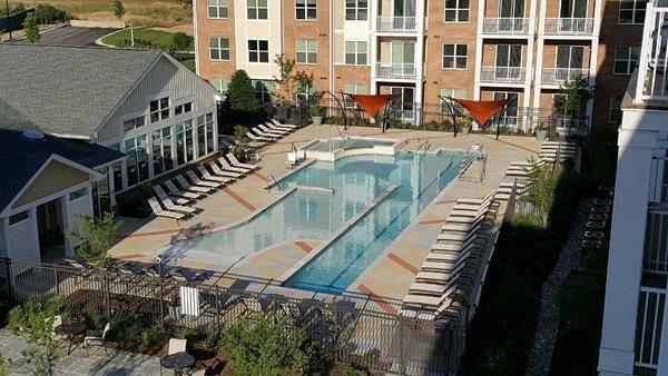 Pool Deck, Outdoor Overlay Concrete Pool Decks Sundek of Washington Chantilly, VA