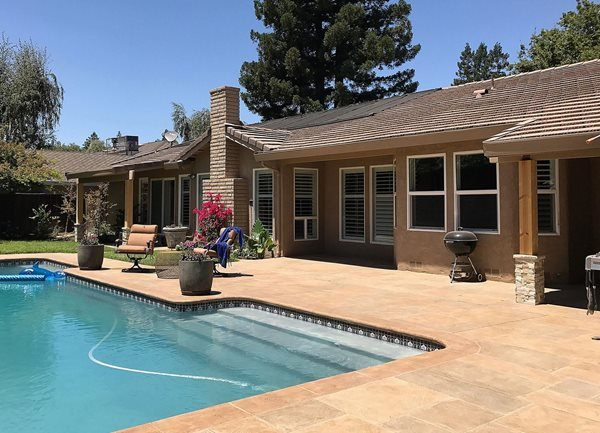 Pool Deck Overlay, Decorative Concrete Coating Concrete Pool Decks Allan Valadez DBA Rescrete Newport Beach, CA