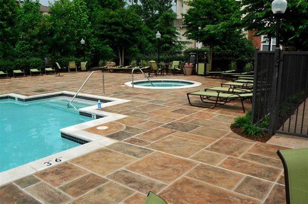 Pool Deck Overlay Concrete Pool Decks Salzano Custom Concrete Aldie, VA